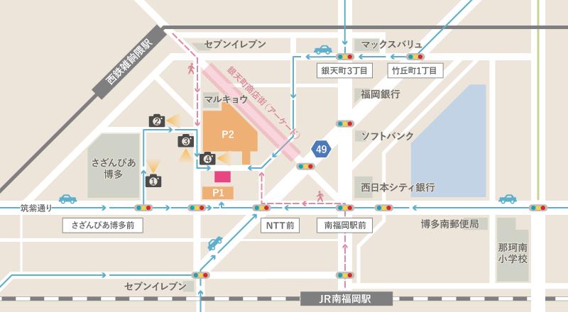 一木医院(一木皮膚科、いちきひふか)福岡市博多区の皮膚科専門医周辺地図