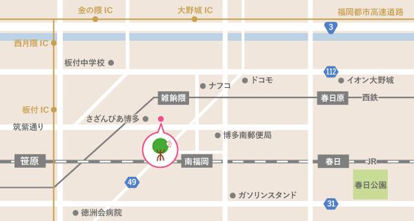 一木医院周辺マップ